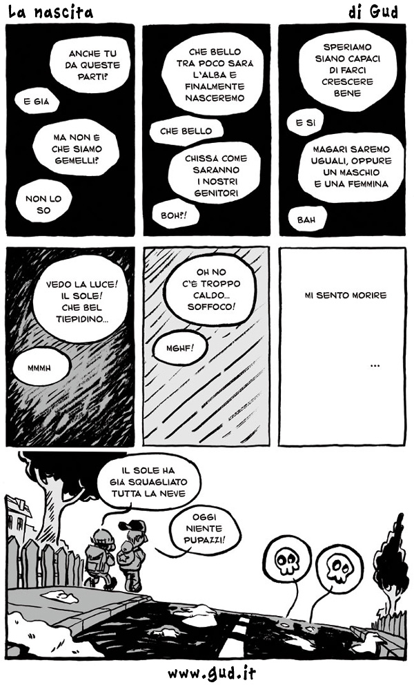 Tipico esempio di tavola a fumetti